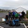 Cllr. Hailes and local people at the beach clean in St Bees.